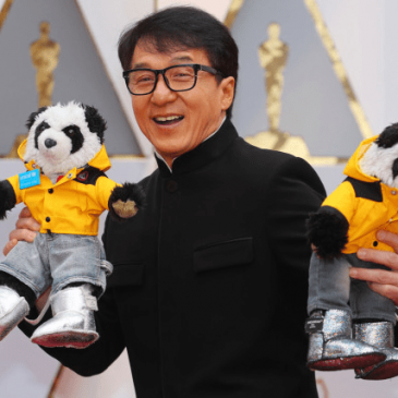 Jackie Chan came to the Oscars red carpet with teddy bears