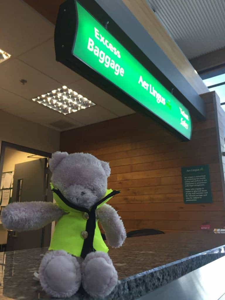 Lost teddy bear at Cork Airport