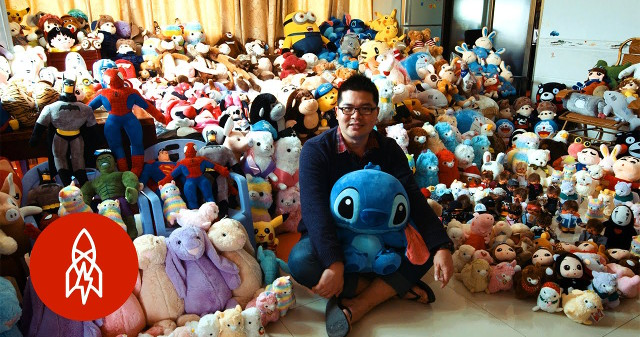 This dude won 15 000 stuffed animals from claw machines for one year