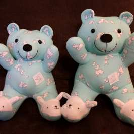 Imagination Acres turns old baby pajamas into teddy bears