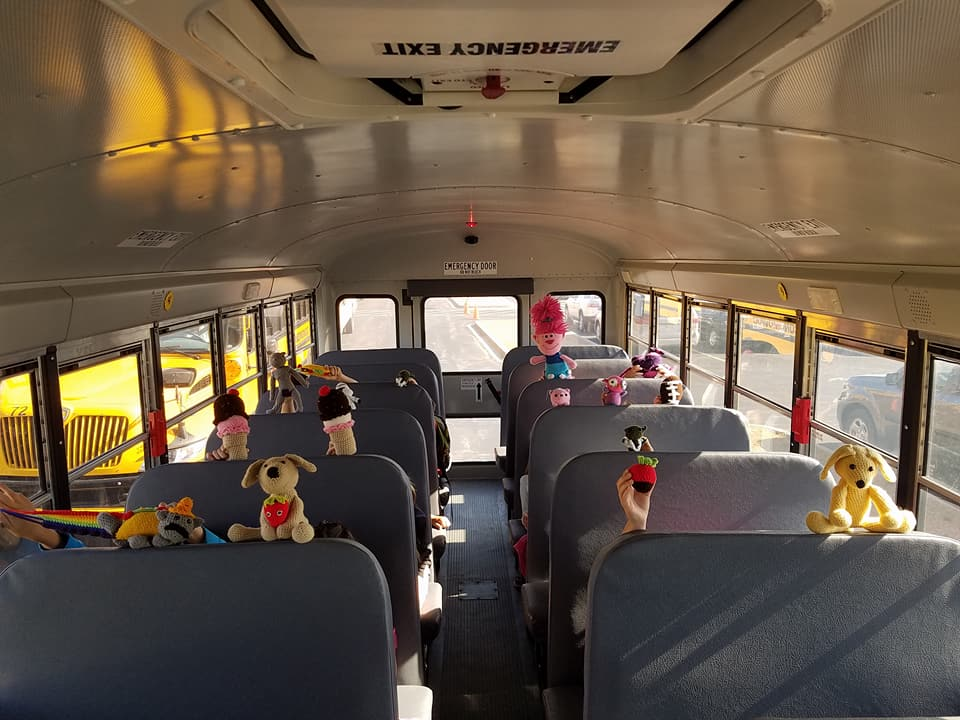 School bus driver makes crochet stuffed animals for each kid on her bus