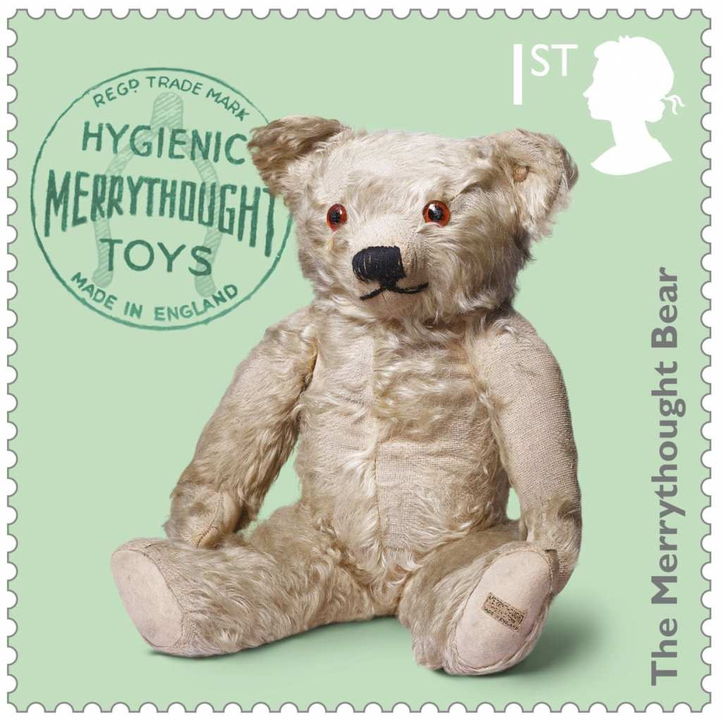 Royal Mail Merrythought teddy bear post stamp
