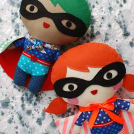 How to make your own plush superhero