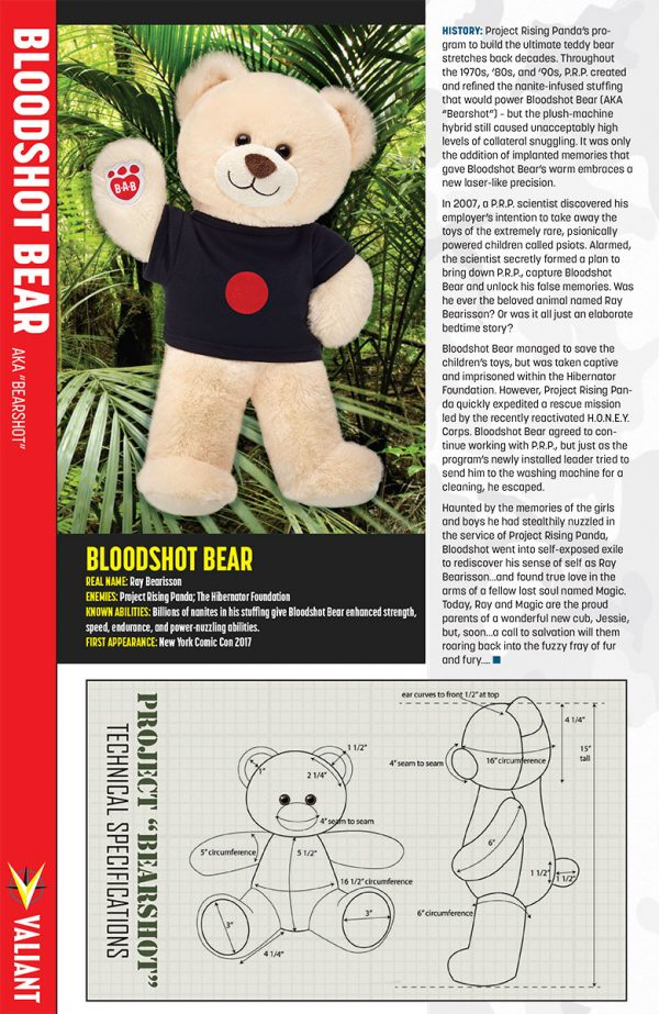 Valiant Build-A-Bear Bloodshot Bear