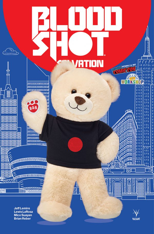 Valiant will offer a Bloodshot Bear by Build-A-Bear