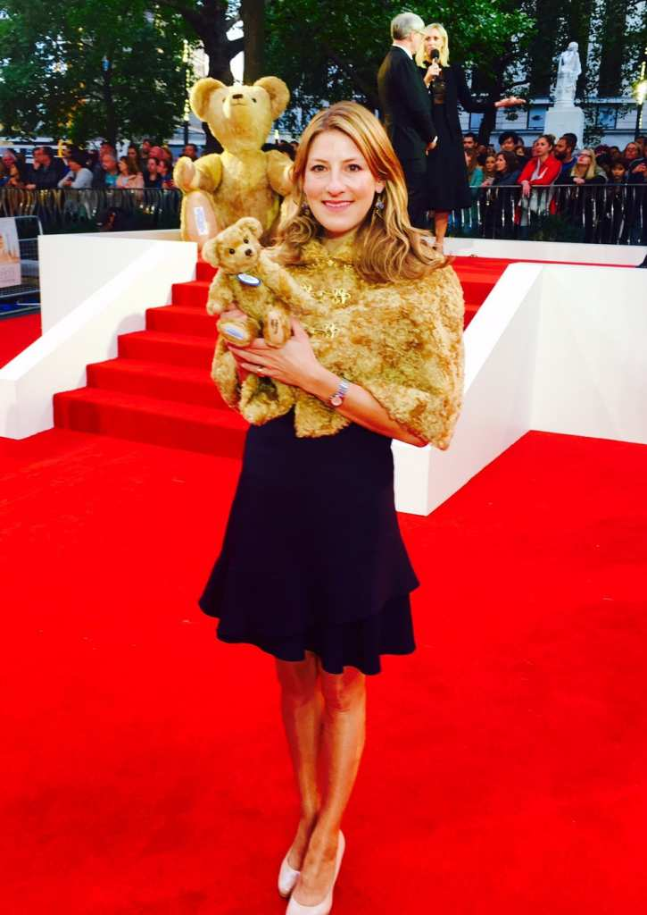 Sarah Holmes at the Goodbuye Christopher Robin movie premiere