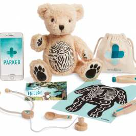 Interactive teddy bear uses augmented reality to teach kids basic biology