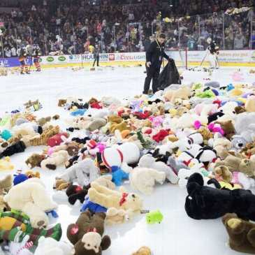 The Colorado Eagles announce their Teddy Bear Toss game for Dec. 8