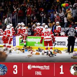 The 2017 Teddy Bear Toss is kicking off with a bang