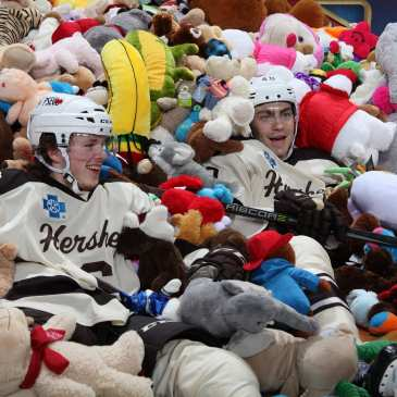 The Hershey Bears smash the Teddy Bear Toss record with almost 35000 toys