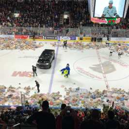 Fans donate tens of thousands stuffed animals at Teddy Bear Toss hockey games