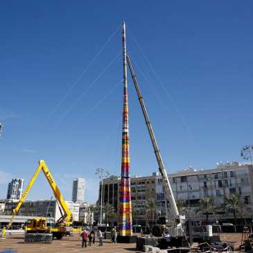 Tel Aviv built the world's tallest LEGO tower for a new record