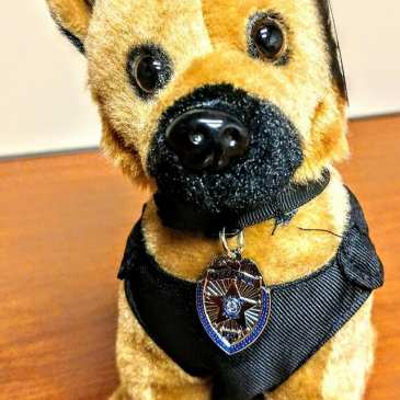 The Aurora Police K9 unit is raising fund by selling cute plush police dogs