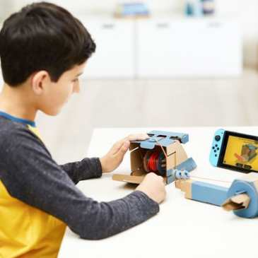Nintendo mixes up cardboard toys with its Switch game console