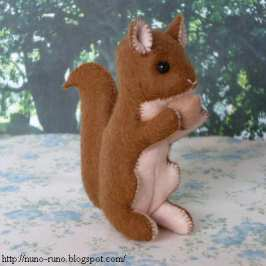 How to make your very own plush squirrel