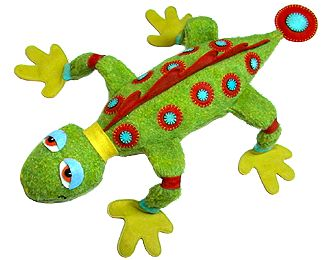 How to make a cute and big Larry the Lizard stuffed animal