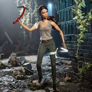 Barbie debuts a Lara Croft doll at the New York Toy Fair