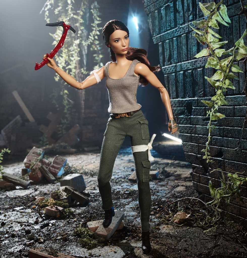 Barbie debuts a Lara Croft doll at the New York Toy Fair