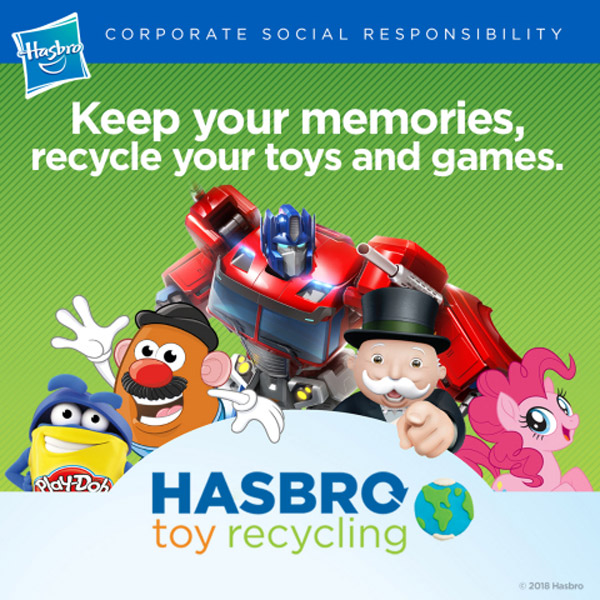 Hasbro introduces a toy recycling program