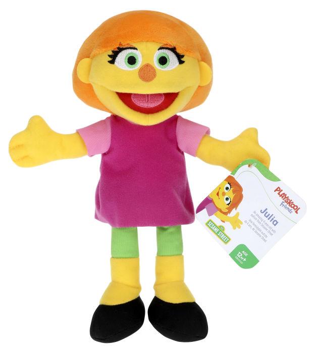 Hasbro releases a Sesame Street's Julia mini plush for Autism Awareness Month