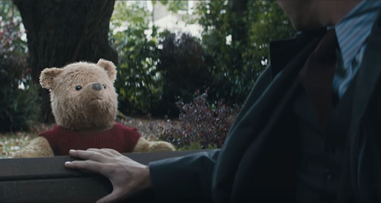 Real stuffed animals took part in Christopher Robin's movie with Pooh
