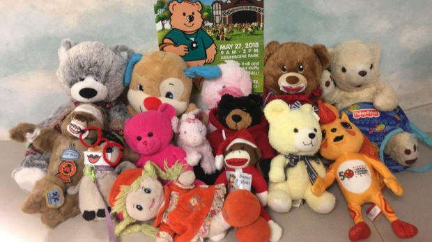 About a dozen of stuffed animals were left during the 32nd Annual Teddy Bear Picnic in Winnipeg and need help