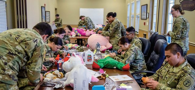 The Army veterinary clinic staff held its third annual Teddy Bear Clinic