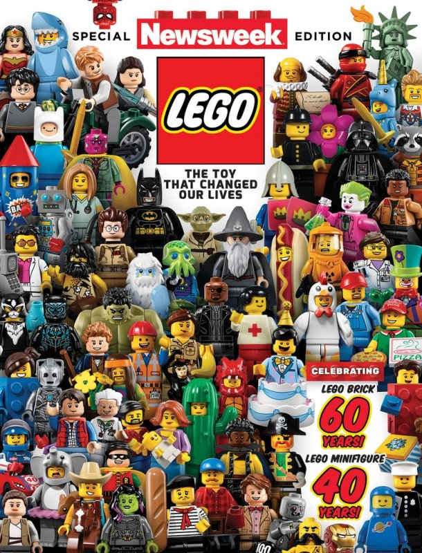 LEGO gets featured on the cover of a special edition of Newsweek