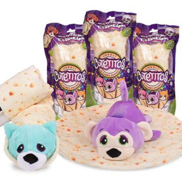 Cutetitos are plush toys coming wrapped in a burrito