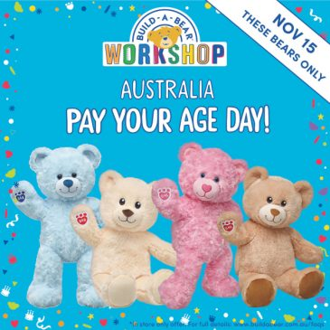 Build-A-Bear is bringing Pay Your Age Day to Australia
