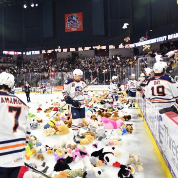 The Bakersfield Condors net more than 8000 stuffed animal for their teddy bear toss