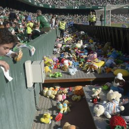 Teddy Bear Toss events go out of the hockey halls and into big soccer stadiums
