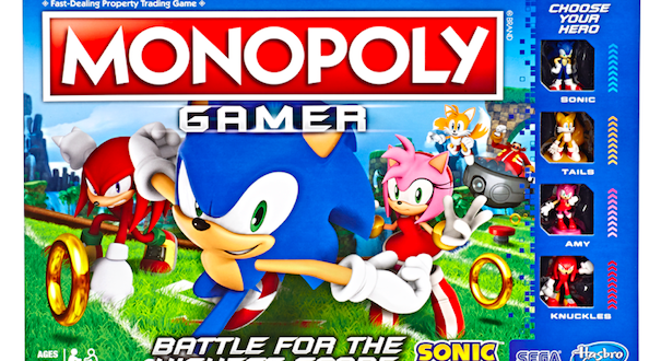 Monopoly introduces a new SEGA and Sonic the Hedgehot partnership
