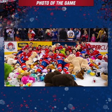 The Spokane Chefs' fans put on a record Teddy Bear Toss for their team