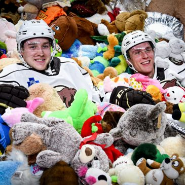 The Hershey Bears destroy the world record with a massive teddy bear toss