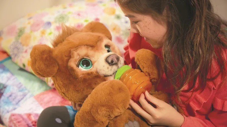Hasbro debuted the FurReal Cubby interactive teddy bear at CES 2020