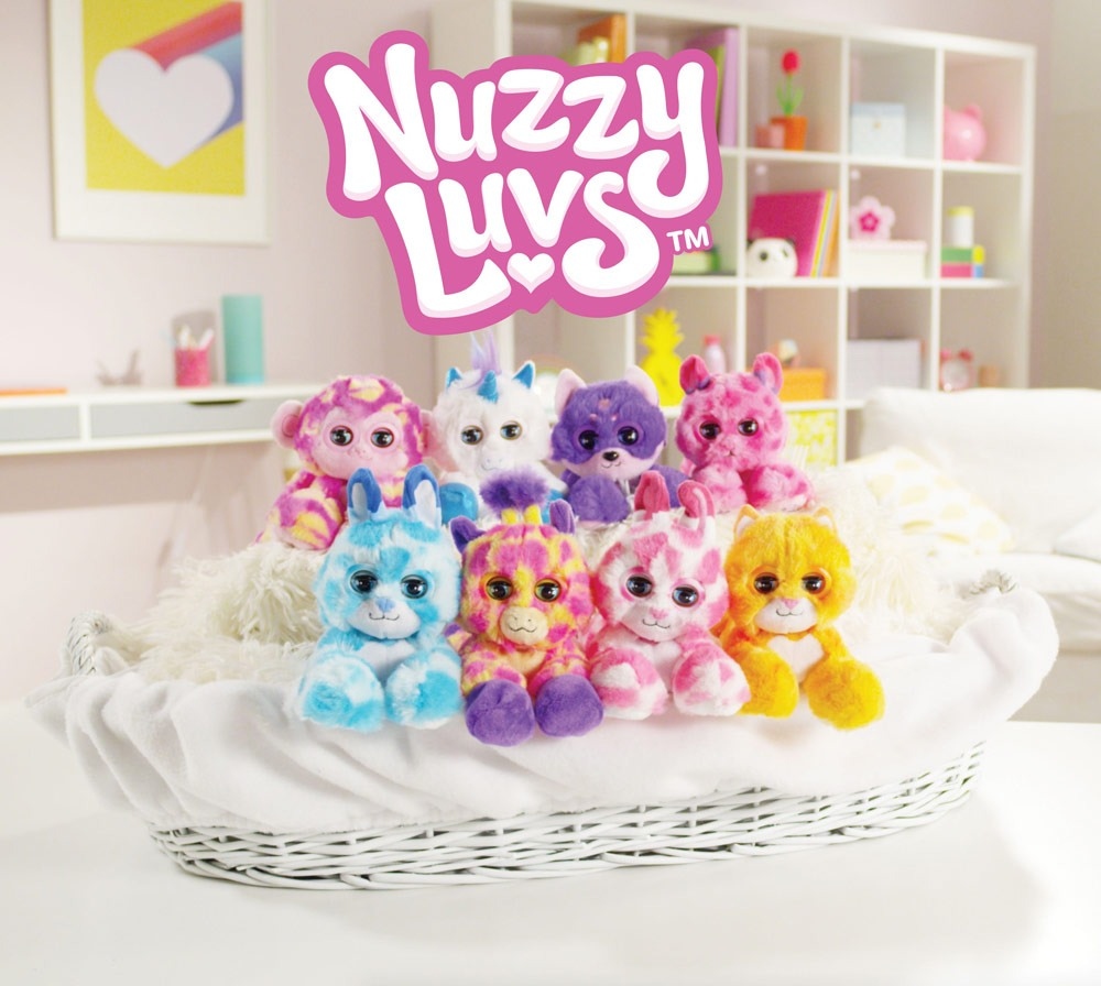 The Nuzzy Luvs are cute electronic plush pets that love to snuggle