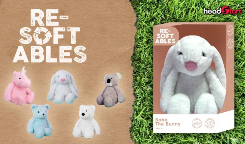The Resoftable push toys are a new line of sustainable stuffed animals