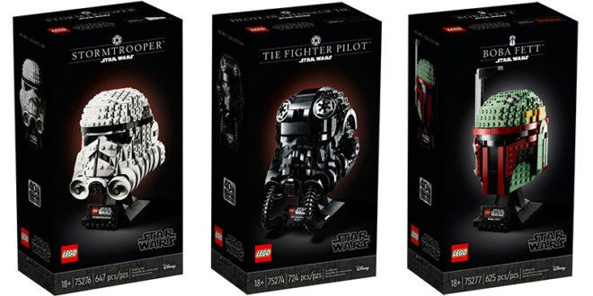 LEGO gets into model helmets and introduces new packaging
